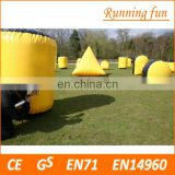 The most popular inflatable paintball bunker with 0.9mm thickness PVC tarpaulin, archery tag inflatable bunker