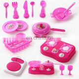 Pink Pretend and Play Kitchen Set Mini Kitchens Play Food Vegetables Fried Egg Kid Toys