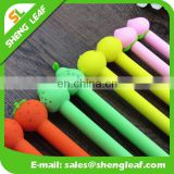 Rubber plastic ball pen with customized logo