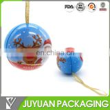 empty ball shape of tin box for Christmas gift wholesale