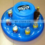 Inflatable beer drink ice bucket cooler floating pool party game raft and rest bed fruit coke ice pool