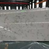Artificial carrara white color quartz stone
