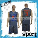 Custom your own team basketball uniforms reversible basketball jersey set                                                                                                         Supplier's Choice