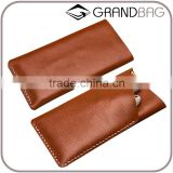 cell phone portable storage bag, soft genuine leather mobile phone sleeve, leather phone case pouch for iphone 6/6s