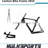 Ultra light road bicycle carbon frame set 700c include fork and seat post carbon bike frame 2016
