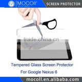 Factory Supply Mobile Phone Tempered Glass Screen Protector For Google Nexus 6 Without Bubble