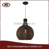 2015 fresh creative most buyer competitive factory trademark brand lighting big round metal iron steel wires pendant lamp