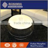 New design modern metal base round marble top center table side table coffee table                                                                                                         Supplier's Choice