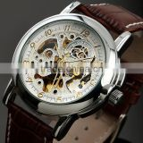 WM370 Mechanical Skeleton Watch Full Automatic with Leather Band