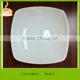 LJ-4465 8'' salad bowls square white / korea soup bowl / personalized salad bowl
