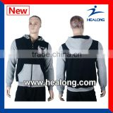 Hot Sales Side Zipper Fashion Hoody Jacket Sweatermen Custom Design                                                                         Quality Choice