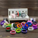 Hot selling colorful 22mm diameter silicone ring flexible vaporizer silicone bands for ecigs atomzier