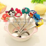 Professional cute design for baby stainless Steel soup spoon