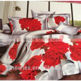luxury shiny bedding set printed horse beddings