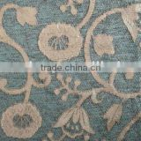 Beautiful Arab Flower Unique Design Jacquard Chenille Sofa & Bed Sheet Fabric SFT006