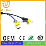 Manufactory quality usb cord for computer camera mobile phone accesories