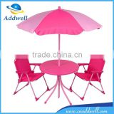 Outdoor leisure lovely kids folding beach chair with umbrella
