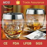 Factory sale silver rim personalized whisky glass tumbler                                                                         Quality Choice