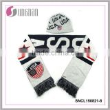 2015 New custom football scarf and hats fan scarf and hats acrylic scarf and hats
