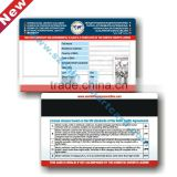 Cr80 Standard Size Printed Serial Numbers 128 39 Barcode Magnetic Strip White Signature Strip magnet business cards