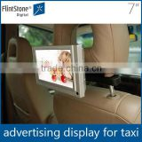 Flintstone 7 inch hot sell advertising screen taxi top advertising player promotional Gift point of purchase video display