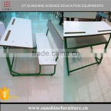 wholesale school furniture standard classroom school desk and chair, student desk and bench in white
