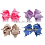 2016 wholesale satin ribbon hair bow with clip                                                                         Quality Choice