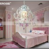 Isabella Crystal Chandelier in White with Pink Crystals kids Chandelier ceiling lighting MD2589                                                                         Quality Choice