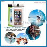 Top sale waterproof smartphone pouch for All screen phones for diving swimming waterproof bag