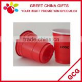 Promotional Double Wall Red and White 2oz / 50ml Disposable Plastic Cup Wine and Joice Cup Bar Decoration                                                                         Quality Choice
