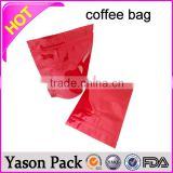 Yason coffee bag with one way valve coffee composite plastic bags coffee packaging material