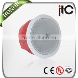 "ITC T-585 15W 8"" EN54-24 Approved 2 Way Fireproof PA System Ceiling Speaker 15W                                                                         Quality Choice"