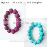 fashion jewelry silicone bracelet baby teether bracelet