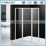hot sale for Europe market folding Bath Shower Screens with frame shower enclosure tempered glass door                                                                         Quality Choice