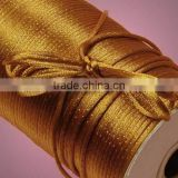 Satin cord Jewelry making supplies-dark yellow color china knot satin cord for jewelry DIY making and craft supplies