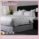 Luxury Design Wholesale 40S Striped White Hotel Motel Bedding