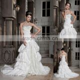 Hot Selling Sweetheart Beaded A-line Ruffles Lace Floor Length Wedding Dress xyy03-087