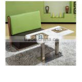 modern furniture design cheap wholesale fabric restaurant wooden sofa booth with stainess steel base sofa bench