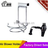 Folding suction cup air blower holder