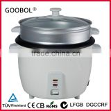 small drum electric rice cooker with steaming basket glass lid GS ROHS