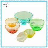 Glassware Dinner Set Plastic Lid Glass Storage Bowl