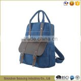 Vintage Canvas Backpack Bags Wholesale with Real Leather Trim