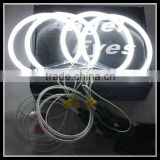 4*131mm ccfl car angel eyes kit led headlight ring with turn signal for bmw e36 e38 e39 e46 halo ring builb lamp headlight 7000k