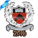 2016 Fashion logo patch, embroidery laser cut high quality badge for t-shirt/ polo clothing                                                                                                         Supplier's Choice