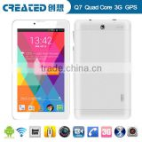 China Factory 7 Inch MTK 8382 quad core 3G WIFI Bluetooth OEM Android Tablet bulk wholesales