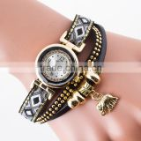 Hot Selling New Design Elephant Pandent Custom Watches Casual Bracelet Fashion Women Ladies Watch