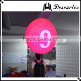 Lighting walking backpack balloon, custom LED inflatable moving balloon with Logo printing