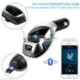 Popular Promotion Bluetooth Car Stereo Handsfree Phone Speaker + TF Card MP3 Player + FM Transmitter USB Car Charger