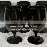 Black Jet Wine Glass Set of 6 pcs