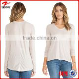 Woman t-shirt v-neck dri fit shirts design for woman t-shirt overseas wholesale suppliers